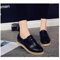 Giày oxford đế giả gỗ màu đen