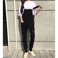 quần yếm dài rách Mã: QD1412 - ĐEN