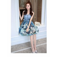 Đầm hoa blue cao cấp