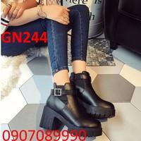 Giày bốt nữ đế vuông - GN244