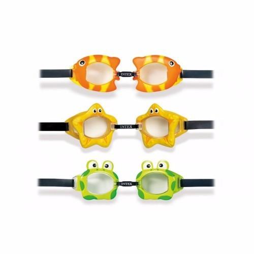Kính bơi hình thú cho bé Intex 55603 hình ếch  Xanh