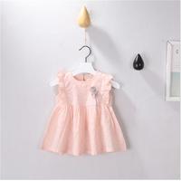 Váy bé gái chấm bi cài bông siêu đáng yêu cho bé - V0211L
