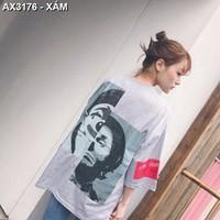 Áo thun nữ who are you Mã: AX3176 - XÁM