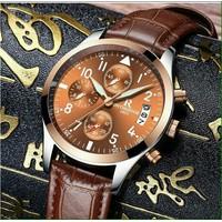 Đồng hồ nam Ontheedge dây da chính hãng kim dạ quang