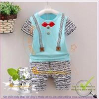 Bộ quần áo bé trai cotton wash mềm GLSET026