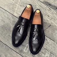 Giày tây công sở da thật  - Giày Luigi chuông - giày lười nam