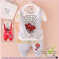 Bộ quần áo bé trai giả gilê người nhện GLSET030