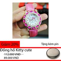 Đồng hồ Kitty hồng cute