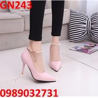 Giày cao gót ngọc trai NEW - GN243