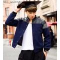 áo khoác phối da nam tính Mã: NK1024 - XANH ĐEN