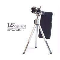 Bộ lens zoom 12x kèm chân chụp cho điện thoại