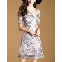 Đầm Suông Đẹp Hoa Thêu NHẬP CAO CẤP ĐẸP A7261