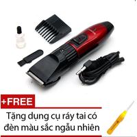 Tông đơ cắt tóc trẻ em Kemei  + Tặng dụng cụ ráy tai có đèn