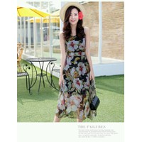 Đầm maxi hoa lan