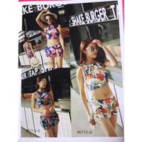 Bikini yếm hai mảnh, hoa quyến rũ - hàng nhập Quảng Châu cao cấp