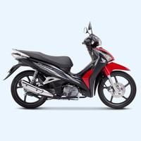 Xe số Honda Future Fi 125cc mâm đĩa - Đen đỏ xám
