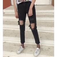 quần skinny dài rách tua Mã: QD1501