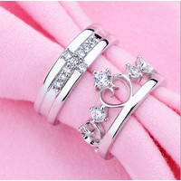 Nhẫn đôi Vương miện đẹp 8