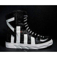 Mesh Leather High-Top Sneakers - CY5159