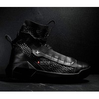 Mesh Leather High-Top Sneakers - CY5162