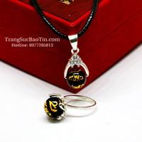 Bộ Trang Sức Nữ Đá Obsidian Đen