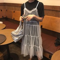 đầm yếm midi lưới trẻ trung Mã: DA4913