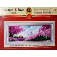 Tranh thêu chữ thập VƯỜN HOA KHOE SẮC H2070 - 195x76cm