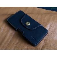 Bao Da Đeo Lưng Opba HTC U11 Handmade Da Bò Màu Đen
