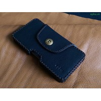 Bao Da Đeo Lưng Opba Samsung Galaxy S6 Handmade Da Bò Màu Đen