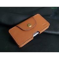 Bao Da Đeo Lưng Opba HTC U11 Handmade Da Bò Màu Vàng