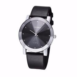 Đồng hồ kim nam dây da mặt kính 3D chống xước SINOBI
