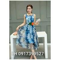 Đầm maxi VINTAGE họa tiết xinh đẹp L12mx18