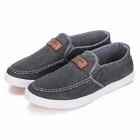 Giày Lười Vải Jean + 1 Đôi Tất Lười