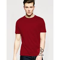 áo phông trơn cotton nam, nữ đẹp giá rẻ Đỏ Đô