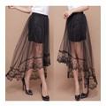 chân váy ma xi hoa văn xuyên thấu Mã: VN524