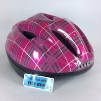 Mũ bảo hiểm xe đạp trẻ em hồng chấm
