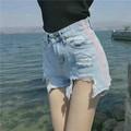 Quần short jean rách viền hồng