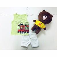 Bộ áo thun phối quần giả jean bé trai