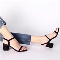 giày gót vuông quai mảnh