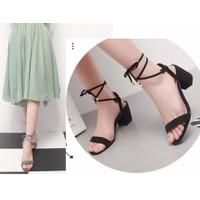 Giày sandal đế vuông 5 phân quai ngang cột dây