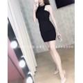 ĐẦM BODY CỔ YẾM XẾP LY KIM TUYẾN