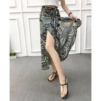 chân váy maxi hoa văn Mã: VN573