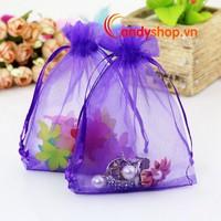 Túi voan vải màu trơn 12 x 9cm - Combo 10 túi quà nhỏ candyshop88.vn