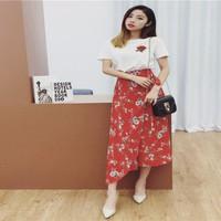 chân váy maxi bông hoa Mã: VN574