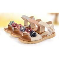 sandal bé gái - giày Hàn Quốc - Dép đi học - sandal đính hoa