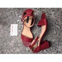 Giày cao gót đế vuông HU7982DO