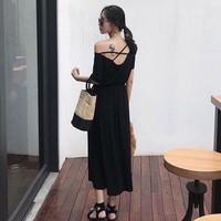 Đầm maxi đan dây