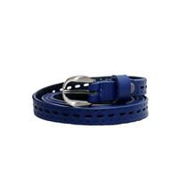 Dây lưng nữ da bò thật cao cấp màu xanh biển EDW101-2