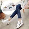 Giày Sneaker Nữ Đế Độn 7cm Họa Tiết Lạ Mắt