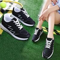 Giày bata nữ đế độn chất lưới nhựa